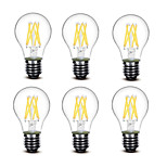 ® Shenmeile 4.5W E27 LED Filament Bulbs A60(A19) 6 COB 500 lm Warm White Decorative AC220 AC230 AC240 V 6 pcs