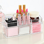 Acrylic Transparent Complex Combined Large Capacity Double 2 Layer Makeup Brush Pot Cosmetics Storage Stand Cosmetic Organizer Box 2PCS Set