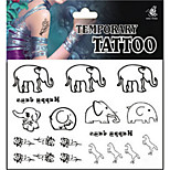 Temporary Tattoos Shoulder Body Animal Series 3D Rose Waterproof Tattoos Stickers Non Toxic Glitter Large Fake Tattoo Halloween Gift 22*15cm