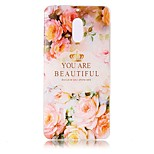 For Nokia 6 Case Cover Flower Letters Pattern Painted Relief High Penetration TPU Material Phone Case