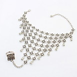 Women's Ring Bracelet Jewelry Fashion Rhinestone Alloy Irregular Jewelry For Party Special Occasion Gift