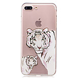 For IMD Transparent Case Back Cover Case Tiger Soft TPU for iPhone 7 Plus 7 6s Plus 6 Plus  6s  6 SE 5S 5