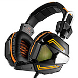 PC Stereo Gaming Headset with Mic Over-ear fit Bass Headphones Comfortable Headband with Noise isolation and Breathing LED Light for PC Mac