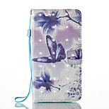 For Huawei P9 Lite  P8 Lite (2017) Card Holder Wallet with Stand Flip Pattern Case Full Body Case Butterfly Hard PU Leather
