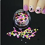 1Bottle Fashion Mixed Colorful Nail Art Glitter Round Paillette Thin Round Slice Decoration P28