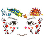 1Pcs  Children's Tattoo Stickers Makeup Face Stick Sun Star Masquerade Stage Performance Tattoo Stickers