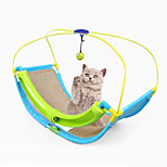 Cat Toy Rocking Roller Interactive Scratch Pad Durable Plastic Sisal