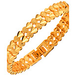 Women's Men's Chain Bracelet Jewelry Fashion Gold Copper Gold Plated Geometric White Gold Jewelry ForWedding Party Special Occasion