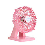 New USB Charger Mini Fan Happy Ferris Wheel Desktop Small Fan Fan Aroma Beauty Mute Smart Small Fan