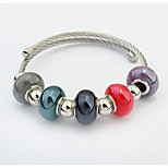 The European And American Fashion  Contracted Joker Round Pearl Beads Bracelet Can Be Adjusted
