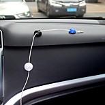 Ziqiao 10pcs multifonctionnel autocollant voiture chargeur ligne fermoir écouteur / usb cable clip voiture accessoires intérieurs (2.8 *