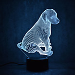 Christmas Dog Turtles Touch Dimming 3D LED Night Light 7Colorful Decoration Atmosphere Lamp Novelty Lighting Christmas Light