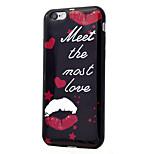 Pour le processus imd rouge lèvres motif tpu étui téléphone doux pour iphone 7 plus 7 6s plus 6s 6 se 5