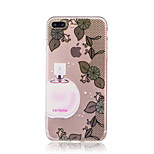 For Case Cover IMD Transparent Back Cover Case Lace Printing Sexy Lady Flower Soft TPU for iPhone 7 Plus 7 6s Plus 6 Plus  6s  6 SE 5S 5