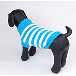 Dog Sweater Dog Clothes Winter Geometic Fashion Casual/Daily Fuchsia