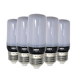 HKV® E14 E26/E27 5W 30 LED 5736 SMD 400-500Lm Warm White Cold White LED Corn Lights AC 220-240 V 5Pcs