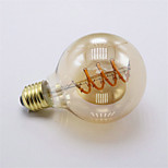 1pcs G80 Dimmable 4W E27 LED Filament Bulbs COB Vintage Spiral Lamp 400lm Warm White Soft Flexible Filament Light AC220-240V