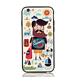 For Apple iPhone 7 7 Plus iPhone 6s 6 Plus Case Cover The Cartoon Pattern 3D Relief Plastic Back Shell TPU Frame Cases