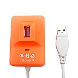 X-LEO 4 Ports High Speed USB 2.0 HUB Ultra Slim