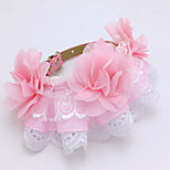 Collar Adjustable/Retractable Breathable Safety Training Solid Lace Blushing Pink