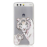For  Huawei P10 Lite P10 IMD Transparent Case Back Cover Case Tiger Soft TPU for P9 P9 Lite  P8 Lite