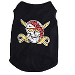 Dog Shirt / T-Shirt Dog Clothes Summer Cartoon Cute Sports Fashion Black