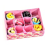 1Pcs  12 Grid Bag Non-Woven Fabric Folding Case Storage Box For Bra Socks  Underwear Organizer For Cloth Print Storage
