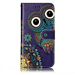 For LG G6 Case Cover Owl Pattern Shine Relief PU Material Card Stent Wallet Phone Case