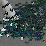 1 Bottle New Fashion Mystic Black Nail Art DIY Beauty Glitter Dazzling Paillette Rhombus Laser Stripe Thin Slice Decoration LW04