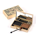 Leopard Ggrain Glaring Stereo Double Color Eyebrow Powder Waterproof And Easy Color Makeup