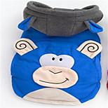 Perros Abrigos Ropa para Perro Adorable Caricaturas Rojo Azul