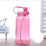 Colored Outdoor Drinkware 1500 ml Portable Plastic Water Water Bottle