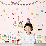 Happy Birthday Cake Party Children's Wall Stickers DIY Removable Wall Decals