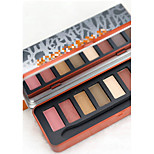 1pcs  Warm Pearl 8 Colors Eyeshadow Palette With Brush Set Waterproof  Eye Makeup Cosmetic