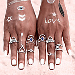 New 8 PCS/SET Vintage Ring Set Punk Bohemian Midi Rings for Women Tibetan Anillos Ring Knuckle Rings for Women Anel