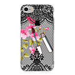 For Translucent Case Back Cover Case Lace Printing Flower Soft TPU for Apple iPhone 7 Plus iPhone 7 iPhone 6s Plus iPhone 6 Plus iPhone 6s