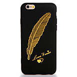 For Apple iPhone 7 7 Plus Case Cover Pattern Back Cover Case Feathers Soft TPU 6s plus 6plus 6s 6