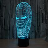 hombre de hierro 3 d proyección de la lámpara toque acrílico llevó la luz visual