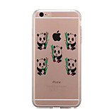 For IPhone 7 Case Back Cover Case TPU Panda Pattern for iPhone 7/ 7 Plus 6s/ 6 /6s Plus / 6 Plus/ SE / 5s / 5 /5C/ 4/4s