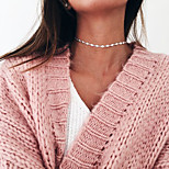 Women's Choker Necklaces Rhinestone Single Strand Alloy Basic Silver Gold Jewelry ForWedding Party Special Occasion Halloween Birthday