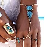 Women's Ring Bracelet Fashion Bohemian Resin Alloy Drop Jewelry For Party 1pc