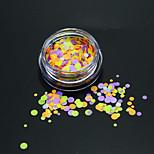 1Bottle Fashion Colorful Round Slice Nail Art DIY Beauty Glitter Round Paillette Thin Slice Decoration P30