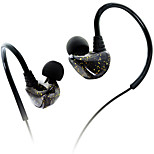 Earphone for Sports Fitness 3.5mm Ear Hook Wired With Microphone Volume Control Hi-Fi And Noise-Cancelling