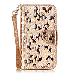 For LG K8 K7 Case Cover Butterfly Pattern Laser Electric Light Glossy PU Material Phone Case K10 V20 Xpower