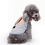 Gatti Cani T-shirt Gilè Abbigliamento per cani Estate Con ricami Divertente Di tendenza Casual