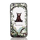 For Apple iPhone 7 7 Plus iPhone 6s 6 Plus Case Cover The Little Bear Pattern 3D Relief Plastic Back Shell TPU Frame Cases
