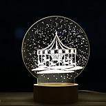 1pc creativo carrossel dandelion noite luz