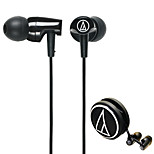 Audio-technica ATH-CLR100 BK Mobile Earphone for Computer In-Ear Wired Plastic 3.5mm Noise-Cancelling