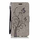 For Huawei P10 Lite P10 PU Leather Material Butterfly Flowers Pattern Solid Color Phone Case P8 Lite (2017) Y6