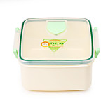 BPA Free Microwave and Dishwasher Safe Square Lunch Box with Divider